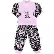 Detské bavlnené pyžamo New Baby Zebra s balónikom ružovy
