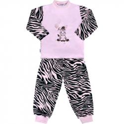 Dziecięca bawełniana piżama New Baby Zebra z różowym balonikiem