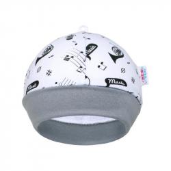 Dojčenská bavlnená čiapočka New Baby Music
