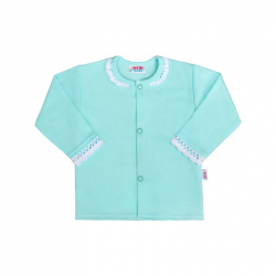 Dojčenský bavlnený kabátik New Baby Angel modrý