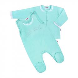 2-dielna bavlnená súprava New Baby Angel modrá