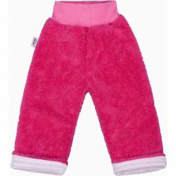 Zimní dětské tepláčky New Baby Ušáček tmavě růžové
