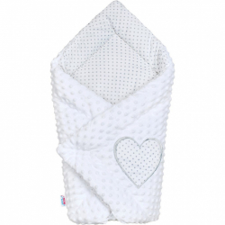 Luxusné Zavinovačka z Minky New Baby biela 73x73 cm