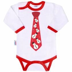 Body z nadrukiem New Baby z krawatem