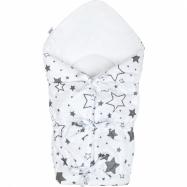 Klasická šnurovacie zavinovačka New Baby biela hviezdy šedé