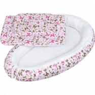 Luxusné hniezdočko s perinka pre bábätko New Baby růžové motýle