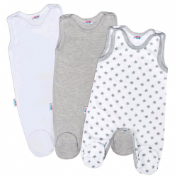 Dojčenské dupačky New Baby Classic II Uni 3ks