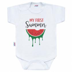 Body z nadrukiem New Baby Mój pierwszy letni nadruk