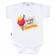 Body s potiskem New Baby MY FIRST SWEET Summer růžové