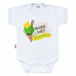 Body s potiskem New Baby MY FIRST SWEET Summer zelené