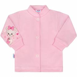 Kojenecký kabátek New Baby medvídek růžový