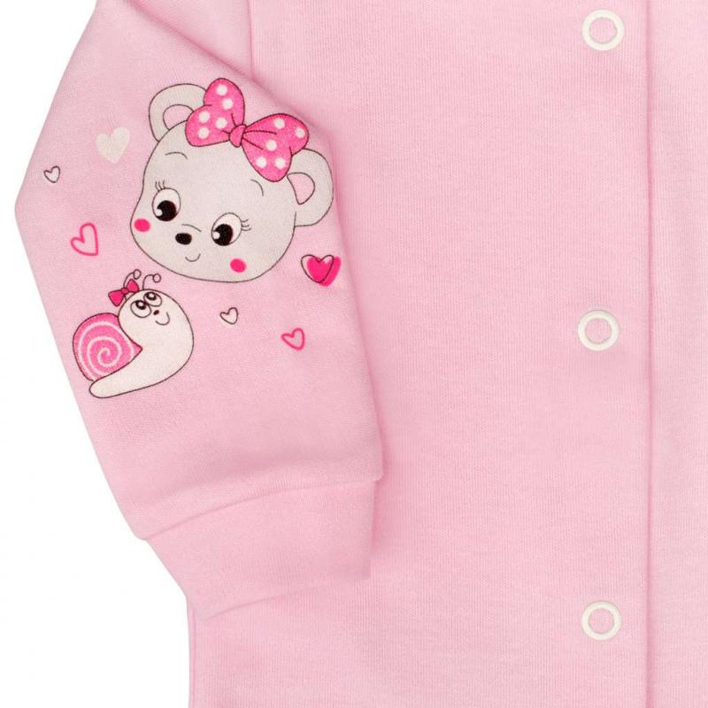 Płaszcz niemowlęcy New Baby mouse róż