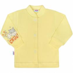 Dojčenský kabátik New Baby chug žltý