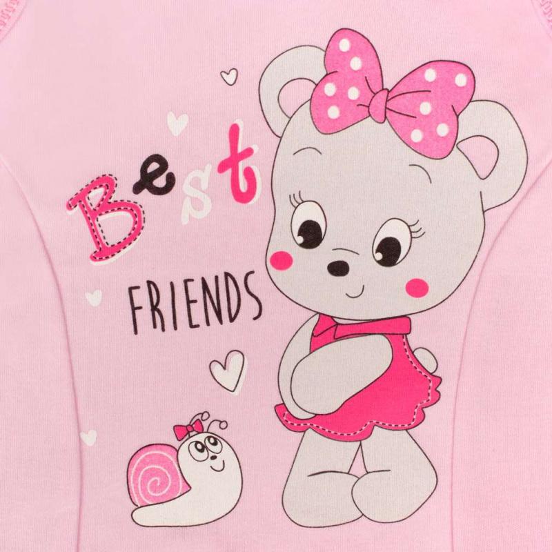 Dojčenské dupačky New Baby myška ružovej