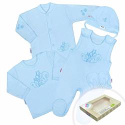 5-dielna súpravička New Baby Veveričky v krabičke modrá