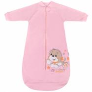 Dojčenské spacie vrecia New Baby psík ružový