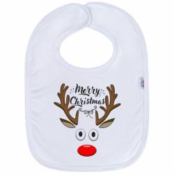 Dojčenský bavlnený podbradník New Baby Merry Christmas