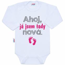 Body s potiskem New Baby Ahoj, já jsem tady nová.