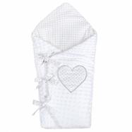Luxusné šnurovacie zavinovačka z Minky New Baby biela 75x75 cm