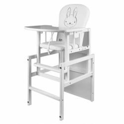 Borovicová stolička New Baby Králíček biela