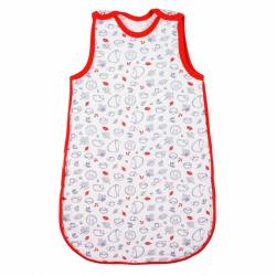 Dojčenský zateplený spací vak New Baby Hedgehog červený