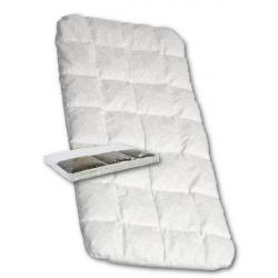 Detská matrac do kočíka New Baby 75 x 35 molitan-pohánka biela