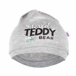 Kojenecká bavlněná čepička New Baby Wild Teddy