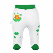 Dojčenské bavlnené polodupačky New Baby Liška zelená