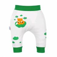 Kojenecké bavlněné tepláčky New Baby Liška zelená