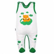 Dojčenské bavlnené dupačky New Baby Liška zelená