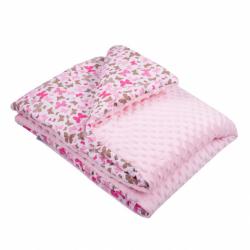 Detská deka z Minky s výplňou New Baby ružová 80x102 cm
