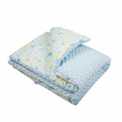 Detská deka z Minky s výplňou New Baby modrá 80x102 cm