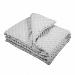Detská deka z Minky s výplňou New Baby šedá 80x102 cm