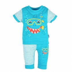 Kojenecké tričko s krátkým rukávem a tepláčky New Baby Shark