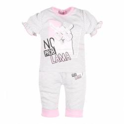 Kojenecké tričko s krátkým rukávem a tepláčky New Baby Lama