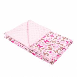Detská deka z Minky New Baby ružová 80x102 cm