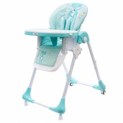 Jedálenská stolička NEW BABY Minty Fox - ekokoža a vložka pre bábätká