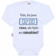 Body s potlačou New Baby 02:00 ráno