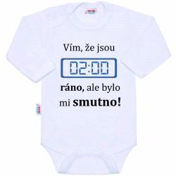 Body s potiskem New Baby 02:00 ráno