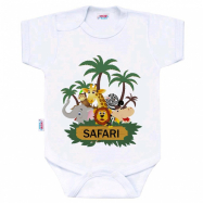 Body s potiskem New Baby SAFARI