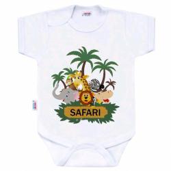 Body s potiskem New Baby SAFARI