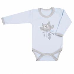 Body niemowlęce New Baby Owl niebieskie