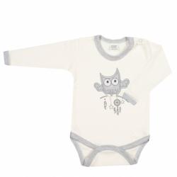 Body niemowlęce New Baby Owl beżowe