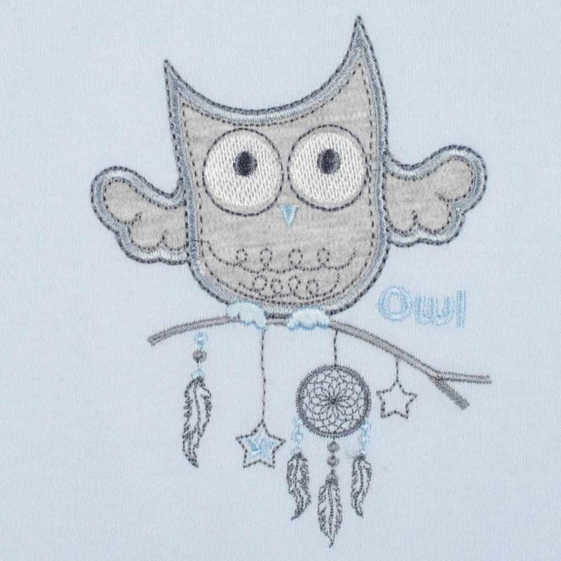 Kapcie niemowlęce New Baby Owl niebieskie