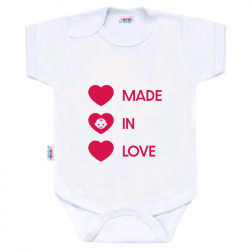 Body z nadrukiem New Baby MADE IN LOVE