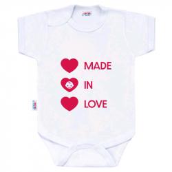 Body z nadrukiem New Baby MADE IN LOVE