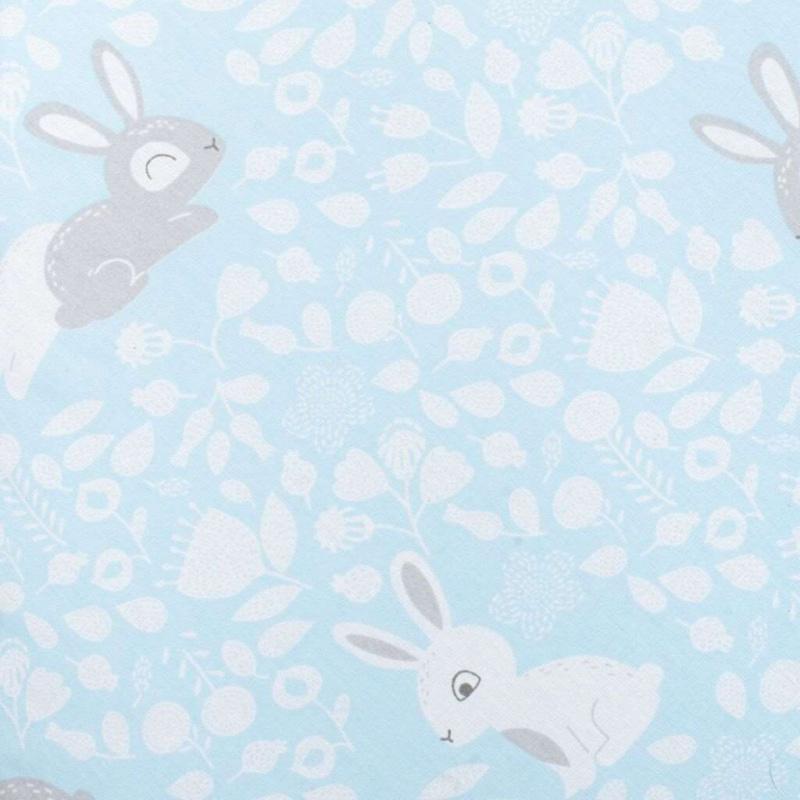 Uniwersalna poduszka do karmienia w kształcie C New Baby Bunnies niebieska