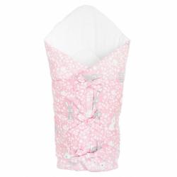 Klasická šnurovacie zavinovačka New Baby Zajačikov ružová