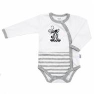 Dojčenské bavlnené celorozopínací body New Baby Zebra exclusive