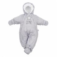 Zimní kombinéza 2v1 New Baby šedá